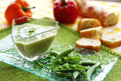 Peas soup Stock Images