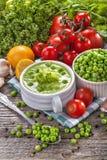 Peas soup Stock Image