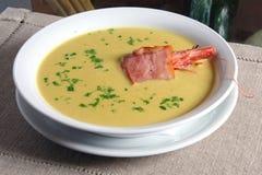 Peas Soup With Shrimp