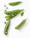 Peas in their pods Royalty Free Stock Image