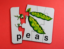 Peas toy Royalty Free Stock Image