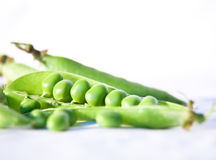 Peas on white Royalty Free Stock Images