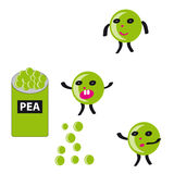 Peas on white background Royalty Free Stock Photography