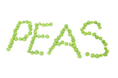 Peas Word Royalty Free Stock Image