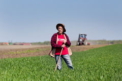 Peasant on farmland Royalty Free Stock Images