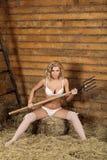 Peasant girl Stock Photo