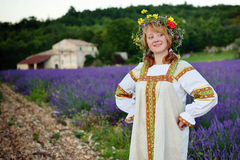 Peasant girl Stock Photo