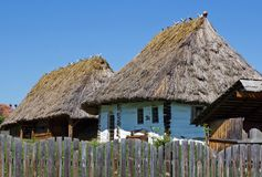 Peasant houses Royalty Free Stock Photos