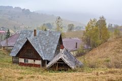 Peasant houses Stock Photography