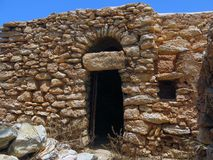 Peasant houses made of stone in Sicily Italy Royalty Free Stock Photo