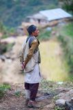 Peasant in national clothes from the gorkha Royalty Free Stock Images
