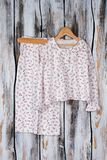 Peasant pajama on rustic background Royalty Free Stock Photography