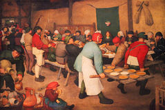 The Peasant Wedding by Peter Brueghel Royalty Free Stock Photography