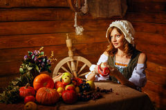 Peasant woman Stock Photo