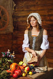 Peasant woman Stock Images