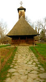 Peasant wooden kirk, Maramures Stock Photography