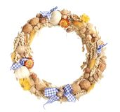 Peasant wreath. A traditional peasant wreath isolated on white background Stock Images