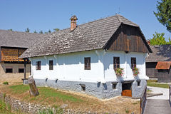 Peasants house. KUMROVEC, CROATIA - AUGUST 4, 2013: View of Peasants house, Kumrovec historical village, Zagorje area of Croatia Royalty Free Stock Images