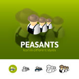 Peasants icon in different style Stock Images