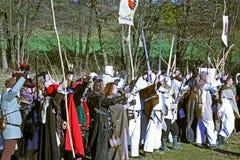 Peasants' revolt a.d. 1573., reenactment of the final battle,6, Donja Stubica, Croatia, 2016. Stock Image