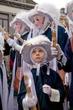 Peasants on Shrove Tuesday, Binche Carnival, Belgium Royalty Free Stock Photo