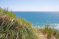 Peñascos del Block Island RI Mohegan Foto de archivo libre de regalías