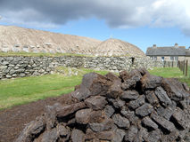 Peat, Blackhouse, Arnol, Isle of Lewis Stock Photography