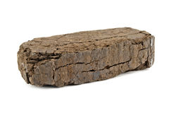 Peat block Stock Photography