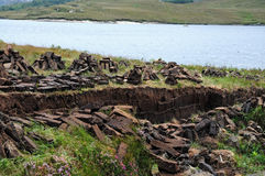 Peat blocks Royalty Free Stock Images