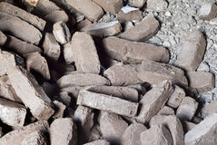 Peat briquettes background Stock Images