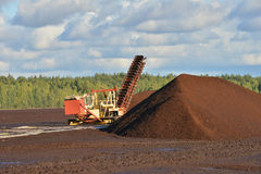 Peat extraction Royalty Free Stock Photography