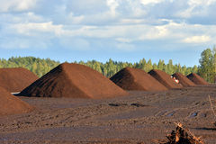 Peat extraction Stock Photography