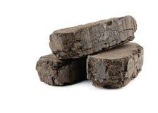 Peat fuel blocks Stock Photography