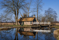 Peat gatherers house in the Weerribben Royalty Free Stock Image
