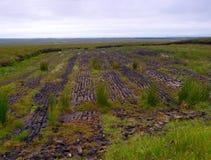 Peat Harvesting. Near Easkey, Co.Sligo, Ireland Royalty Free Stock Photo