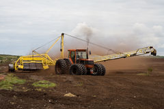 Peat harvesting Royalty Free Stock Photo