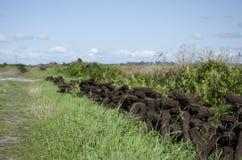 Peat harvesting in Listowel, Co. Kerry, Irela Royalty Free Stock Image
