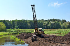 Peat mining Royalty Free Stock Images