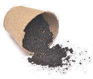 Peat pot Royalty Free Stock Image