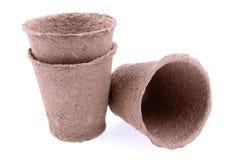 Peat pots Stock Images