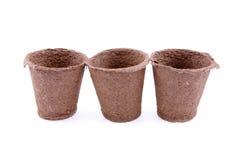 Peat pots Royalty Free Stock Photography