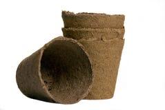 Peat Pots Stock Photo