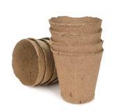 Peat pots Royalty Free Stock Image