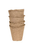 Peat pots Royalty Free Stock Photo