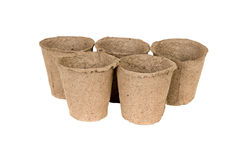 Peat pots Royalty Free Stock Images