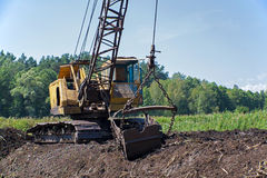 Peat quarry Royalty Free Stock Images