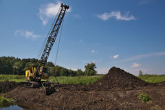 Peat quarry Stock Photography