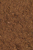 Peat Turf Macro Closeup, large detailed brown organic humus soil Royalty Free Stock Photography