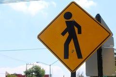 Peatonal znaka skrzyżowanie Obrazy Royalty Free