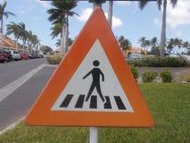 Peatones de la señal de tráfico Fotografía de archivo